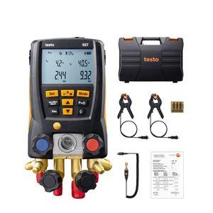 Manifold Digital Testo 557 4 Vias Vacuômetro Superaquecimento Sub-Resfriamento App Bluetooth Com Maleta