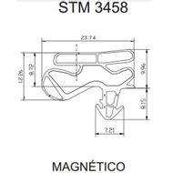 Borracha da Porta Superior Geladeira Continental Bosch 410