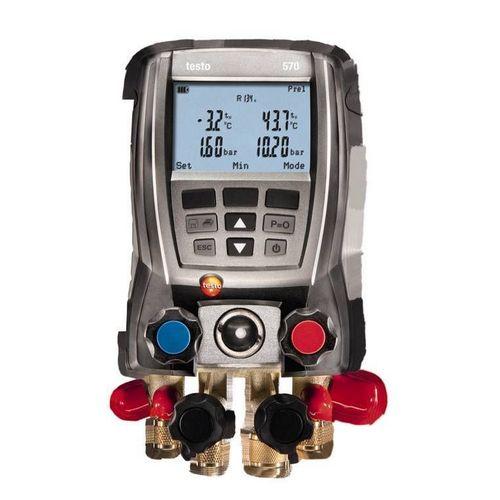 Manifold Digital Testo 570 4 Vias Vacuômetro Superaquecimento Sub-Resfriamento 2 Sondas Cabo Usb c/ Maleta