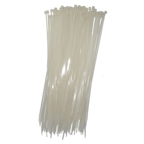 Abraçadeira Nylon 4,8 x 300 Branca 100 Unidades
