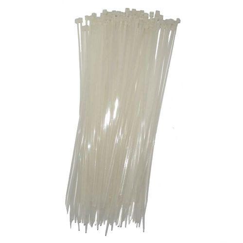 Abraçadeira Nylon 4,8 x 200 Branca 100 Unidades