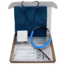 Kit Mascara Odontológica Facial Respingo Azul