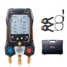 Manifold Digital 2 Vias e 2 Termômetros Pinça c/ Maleta testo 550S Basic Kit